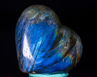 Rainbow Heart Shaped Labradorite Stone/Labradorite Crystal/Labradorite Heart/Gemstone Heart/Hand Carved Heart/Love Heart/Gift for Her#3663