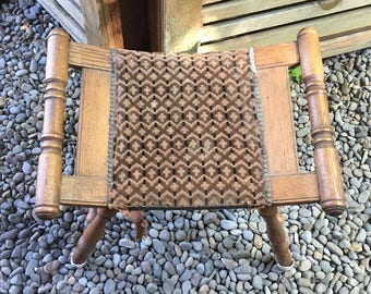 antique bussel bench upholstered seat