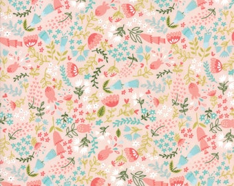 Home Sweet Home - Pink Forest Floral Fabric - Stacy Iest Hsu - Sold by Half Yard
