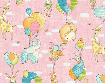 Hello World Good Day - Fly Away Day in Pink by Cori Dantini for Blend Fabrics
