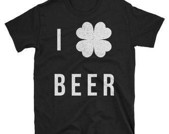 four leaf clover,st patricks day,irish,beer,4 leaf clover,green beer,i love beer