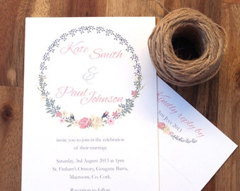 Wedding invititation suite | Vintage floral printable | Wedding Invitations | Wedding card