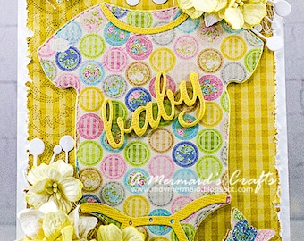 Shabby Chic The Sweetest Thing Welcome Baby Card