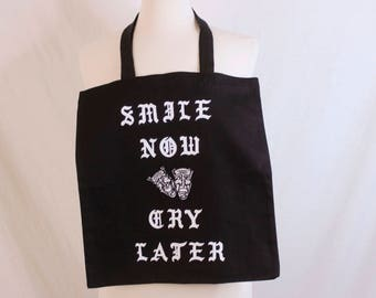 Smile Now,Cry Later Dj Tote bag