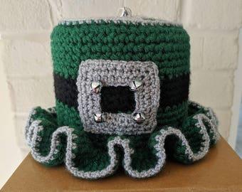 Irish Toilet Paper Tissue Cover Roll Hat Bathroom Decor Shamrock St. Patrick's Day A