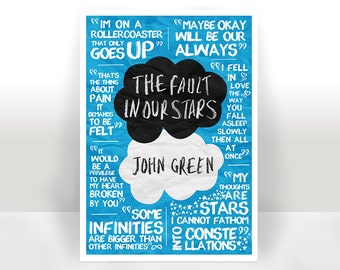 The Fault In Our Stars Quotes Art Print Poster - Many Sizes