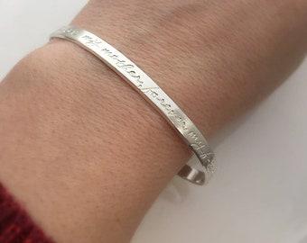 Première ma mère, cadeau de Forever My Friend - cadeau fête des mères - maman de fille - mère de la mariée - Bracelet mère - argent Bracelet manchette