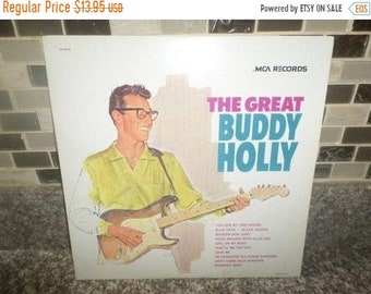 Vintage 1975 Vinyl LP Record The Great Buddy Holly Near Mint Condition 5636