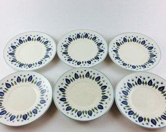 Set of 6 Stetson Marcrest Swiss Alpine saucers