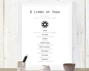8 Limbs of Yoga Printable *INSTANT DOWNLOAD*