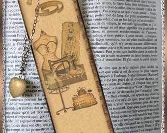 "Laminated bookmarks ""My sewing kit"""