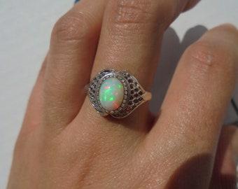 filigree welo opal ring
