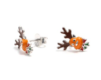 Reindeer earrings 925 sterling silver