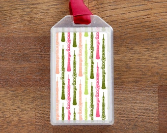 Oboe - Instrument Case ID or Luggage Tag for musicians
