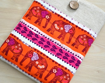"""15"""" to 15.6"""" Laptop Sleeves, Chromebook Sleeve Acer CLoodbook 14, HP Envy 15.6 inch, 15"""" Macbook Pro Sleeve, DeLL XPS 15.6""""- Elephants-"""