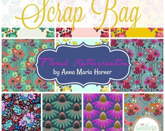 Floral Retrospective - Scrap Bag Quilt Fabric Strips by Anna Maria Horner for Free Spirit
