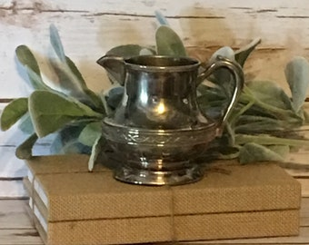 Vintage Silver Plate Creamer,Farmhouse Decor,Shabby Chic,French Farmhouse Decor