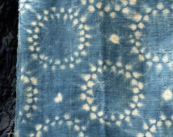 010 - Natural Hand Dyed Indigo Shibori Fabrics by Bio Method