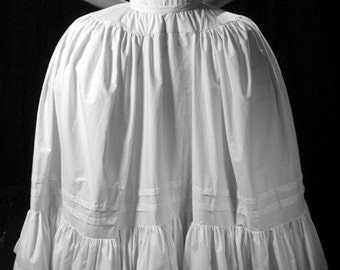 18th century Marie Antoinette Petticoat, white, off white, Custom,all sizes plus to small Historic Undergarment for pannier costume cosplay