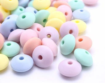 lens 12 silicone beads 10 x 7 mm