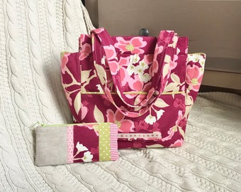 Dogwood Bloom Purse pink floral purse