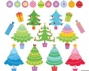 Christmas Tree Digital Clipart