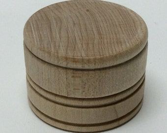 "1-9/16"" Wooden Pill Box - Tooth Fairy Box - Unfinished Wood 1"" Tall Mini Pill Box - Trinket Box - DIY Pill Box - Ring Box"