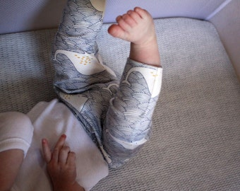 Baby Leggings / Baby Pants in Harem Style - Whale Tales - READY TO SHIP by Little Dreamer