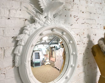 Painted Cottage Prairie Shabby Chic Extra Large Convex Federal Eagle Mirror