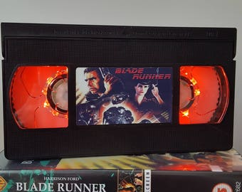 Retro VHS Lamp Blade Runner Night Light Table Lamp, Horror Movie. Order any movie! Great personal gift. Man Cave. Office. Mothers Day