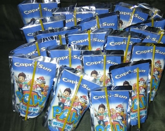 Personalized Capri sun juice boxes