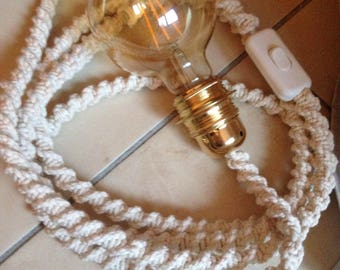 Wandering lamp macrame 2.80 m with switch