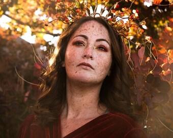 Autumn Harvest Goddess Crystal Crown