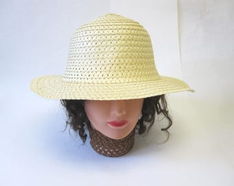 Natural Straw Hat Millinery Womens
