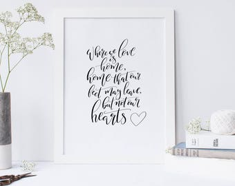 Where We Love Is Home Print 8x10""