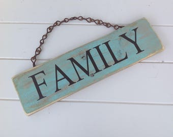 Family sign / rustic family sign/wooden family sign /wooden sign/ Family/rustic sign