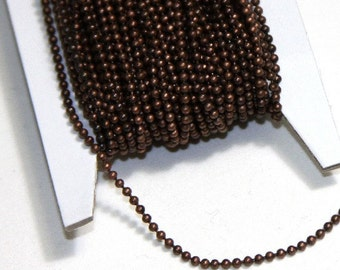 10 ft of antique copper chain 1.5mm ball chain
