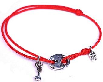 Key bracelet, key jewelrygift for her, lock and key, key and lock, charm bracelet, friendship bracelet