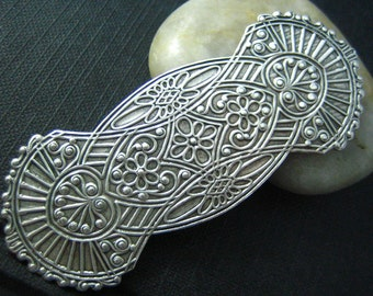 1 PC LARGE Embossed Stamping Oxidized stering silver Brass
