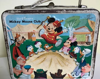 Vintage Mickey Mouse Club lunchbox