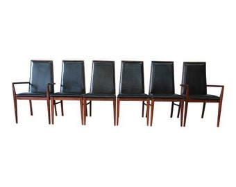 Dillingham Mid-Century Modern Dining Chairs, Set of 6