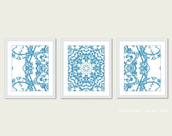 Abstract Art - Mandala Prints - Mandala Wall Art - Modern Decor - Triptych Wall Art - Office Wall Art - Aldari Art