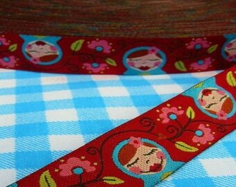 Matryoshka 15mm the meter farbenmix Ribbon