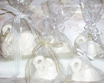 3 D White Chocolate Swan Wedding favors