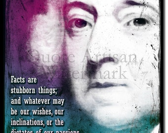 John Adams Original Art Print - 12x8 Inch Photo Poster Gift  Quote - 2nd President of the United States of America