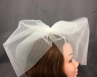 Ivory Bridal veil
