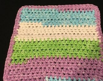 Sweet Pea Stripes 2 Dishcloth