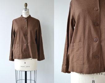 Bark linen chore jacket | short linen jacket | linen jacket