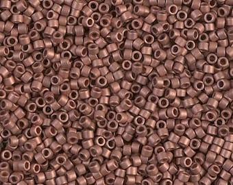 DB0340, MIYUKI DELICA BEAD, 11/0 Matte Copper Plated, 5g, 10g, Delica Beads