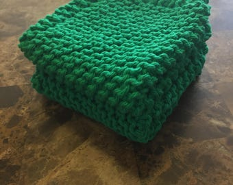 Knit Dishcloths - Set of Two